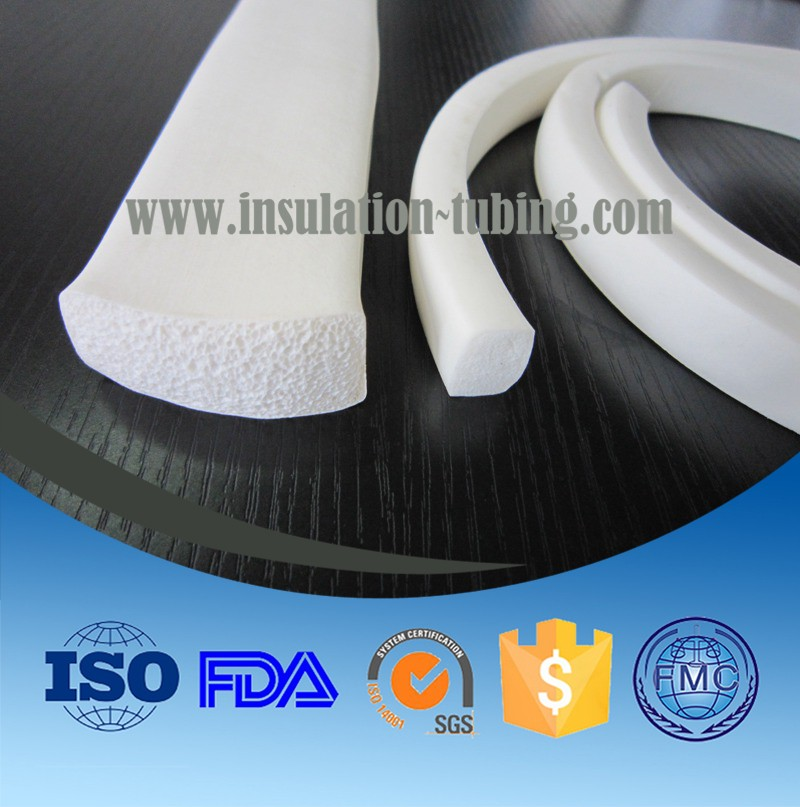 Rectangular Waterproof Silicone Rubber Seal Strip Silicone Foam Cord