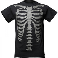 2016 Gothic Shirt Back in black glow rib-cage 2015 t-shirt cotton material goth FC-4128