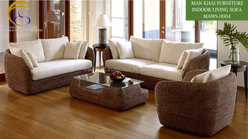 Swell India Interior Indoor Rattan Living Room Sofa Set Home Furniture Acacia Wooden Frame Water Hyacinth Handmade Woven Buy Water Hyacinth Ncnpc Chair Design For Home Ncnpcorg