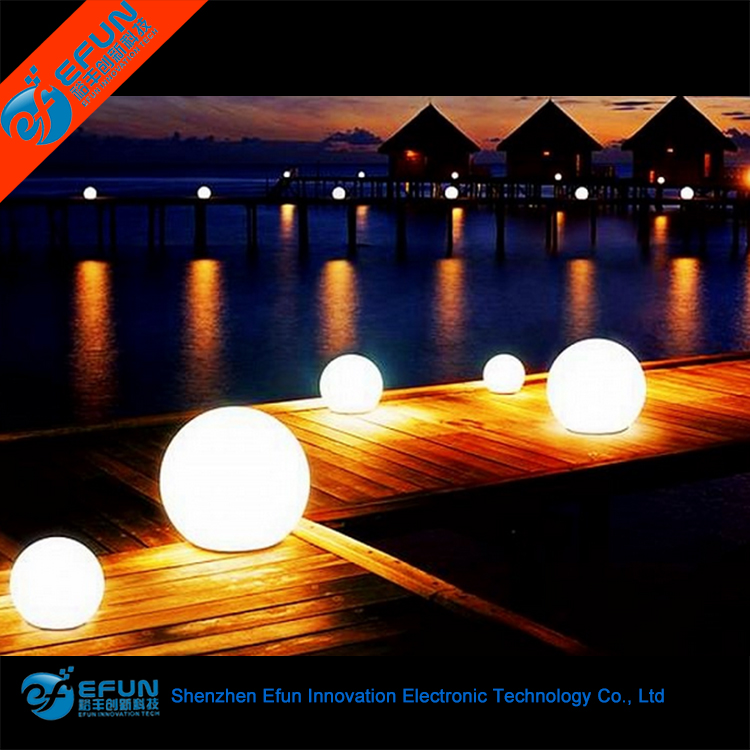 battery source remote control 16 color changing cordless illuminated ball lamp plastic waterproof outdoor led sphere ball lights