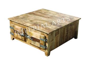 Indian Mango Wood 2 Double Door Trunk Coffee Table Buy Mango Wood