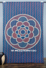 Hippie Indian Ethnic Flower Printed Design Cotton Mandala Twin Tapestry Wall Hanging Bedspread Wall Decor Wholesale Tapestries