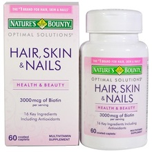Nature's Bounty Optimal Solutions Extra Strength Hair, Skin & Nails
