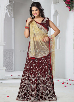 253a0174df Lacha saree price - Designer heavy bridal sarees - Wedding reception lehenga  saree - Latest marwadi