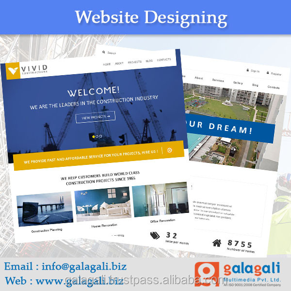 Bug Free PHP Website Design and Website Development Service for Builders with SEO - www.theme4biz.com