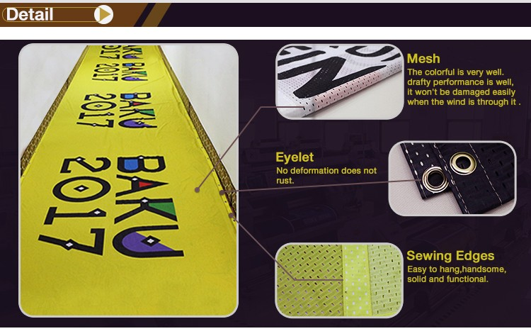 TJ Factory 100% Recycled Polyester Printing fabric mesh Banners