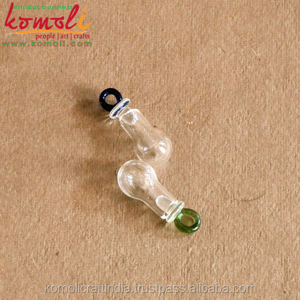 Murano mini glass bottle pendant for jewelry hollow glass pendants