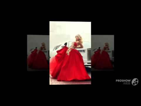 Ball Gown Sexy Red Wedding Dresses Sleeveless Sweetheart With Gold Applique Bow Matte Sati