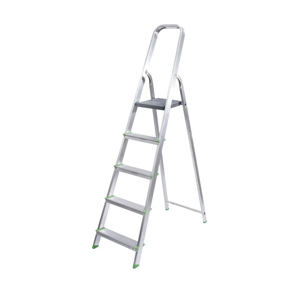 Escalera de aluminio dom stico 3 8 escalera de mano for Escaleras 8 pasos