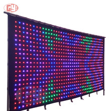 2m*3m P9cm PC Version real time playing led stage video curtain, led backdrop curtain