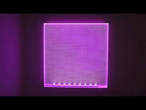 RGB LED Light Sheet colour changing demonstration