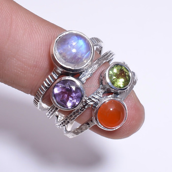 a40223159a236 Sterling Silver Rainbow Moonstone Semiprecious Stone Ring Price Design  Engagement Stackable Ring - Buy Sterling Silver Rainbow Moonstone  Semiprecious ...