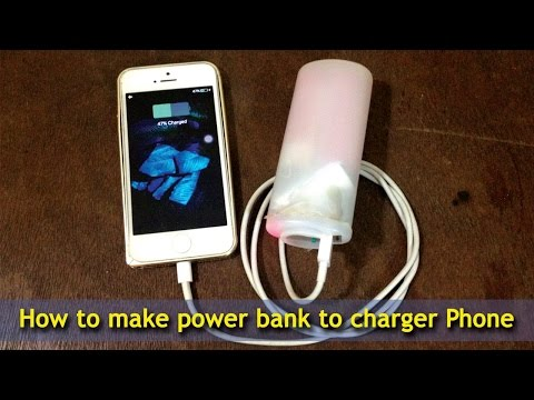 How to make power bank to charger Phone & a portable USB cell phone charger