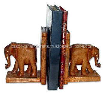 Bookends,Wooden Elephant Bookends,Decorative Bookends - Buy Wooden  Bookends,Contemporary Bookends,Animal Bookends Product on Alibaba com