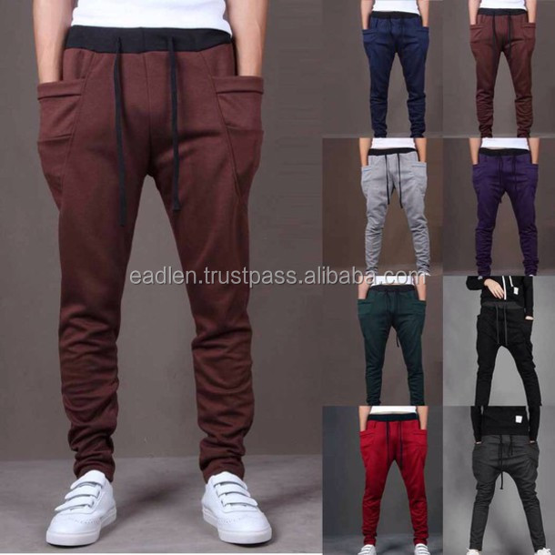 2017 men / women fleece cotton full length trousers wholesale track pants