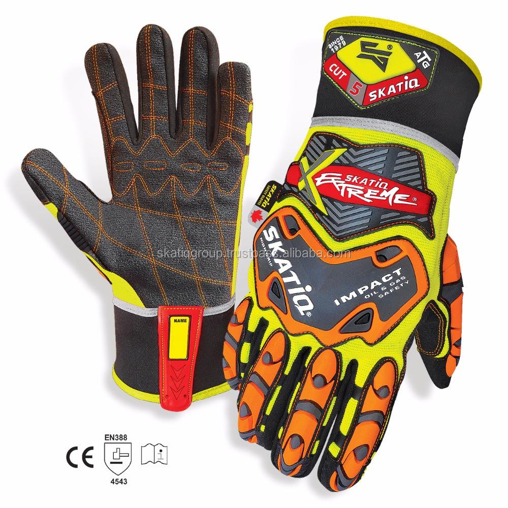 SKATIQ Oil & Gas IMPACT SAFETY Gloves Cut 5 Resistant