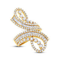 Flared 3.14CT 18K yellow gold Diamond sales design your own beautiful wedding promise ring for couples matching mens hoop rings