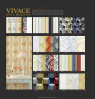 "PVC Wall Paper Latest New 2016 3D Brand ""VIVACE"" 79Kinds New Designs Size 1.06M x 15.6M/Roll"