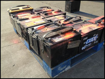 Used Car Battery, Drained Lead-Acid Battery Scrap for sale