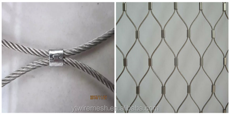 Ferrule Stainless Steel Wire Rope Mesh,X-tend Wire Rope Mesh