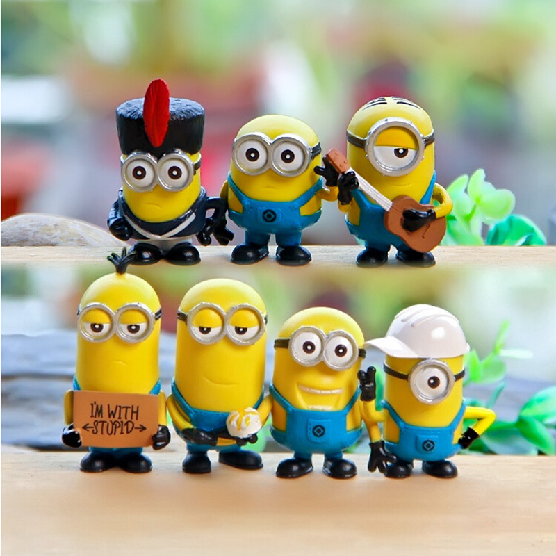 Free Shipping New Minions Toys Minion Figure Toy Ornament Despicable Me Doll Minion Decoration Hand done