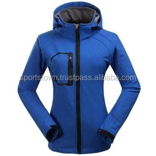 Cheap Custom Softshell jacket Women's with Hood, Custom Style Women Softshell jacket
