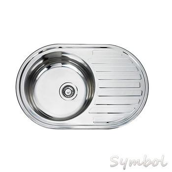 cupc malaysia supply round kitchen sink with board single bowl sink - Kitchen Sinks Round