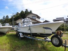 Japanese used fishing boat, YAMAHA FISHING MATE 21 , 6H2 small pleasure boat