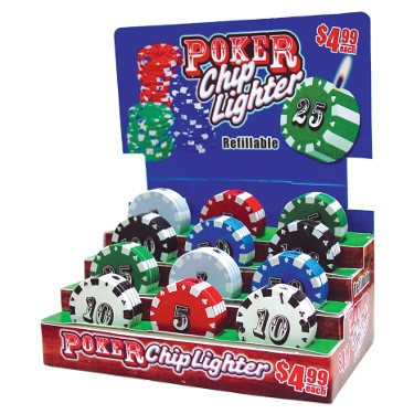 POKER CHIP LIGHTER #010726Q