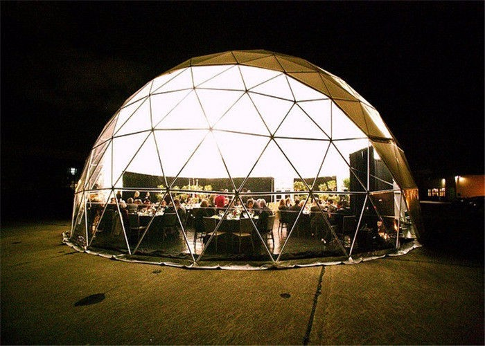 Large Transparent Pvc Geodesic Dome Event Tent For Hot