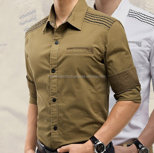 men short sleeve casual dress shirt , men garment