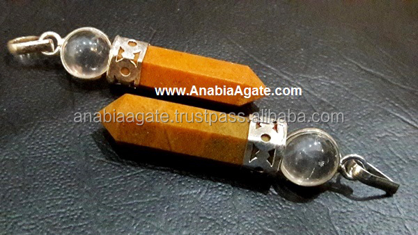 Camel Agate 2Pc Cap Pencil Pendants : Wholesale pencil pendant