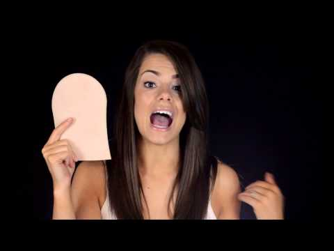 How to Apply Self-Tanner - application tanning Mitt for lotions, spray & sunscreen