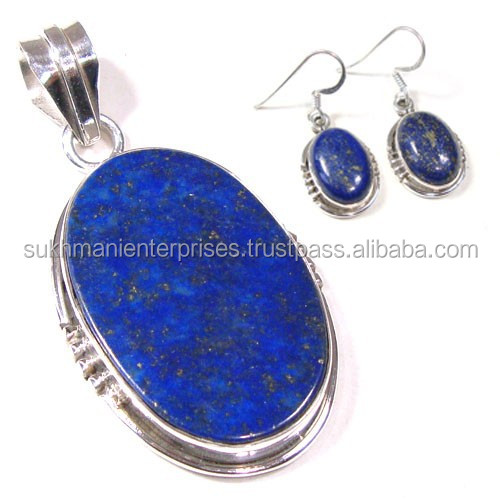 Jewelry set 925 silver jewelry natural lapis lazuli jewellery wholesale jewelry