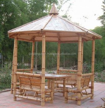 Naturliche Bambus Pavillon Bambus Mobel Gunstigen Preis Buy