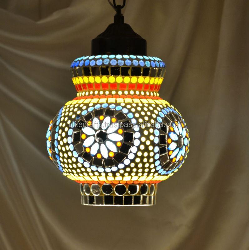 Glass Mosaic Lamp,Ceiling Pendant,Decorative Residential Lamp ...