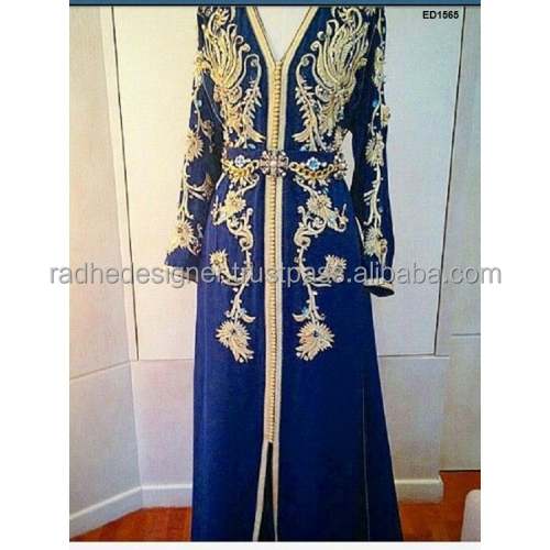 DESIGNER KAFTAN DRESS NEW JALABIYA JILBAB GEORGETTE MOROCCAN CAFTAN WEDDING DESIGNER GOWN MODERN DRESS C189