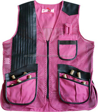 Clay Shooting Ladies vest , leather ladies vest ,hunting