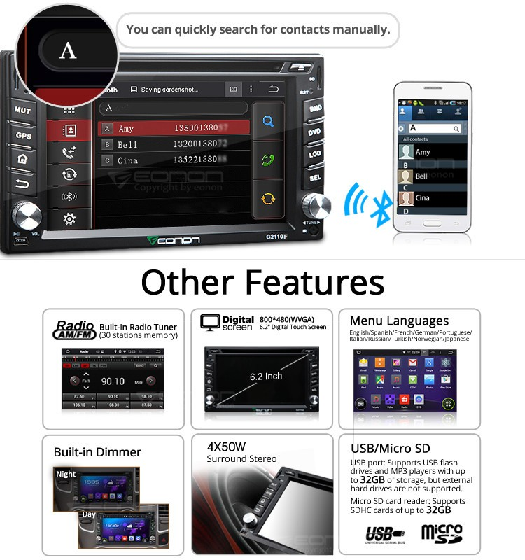 Find More Car DVD Information about 62quot Android 444 Wiring Eonon Diagram Radio G F on