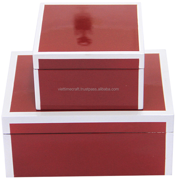 Lacquer jewelry box set of 2 for home decoration View Lacquer