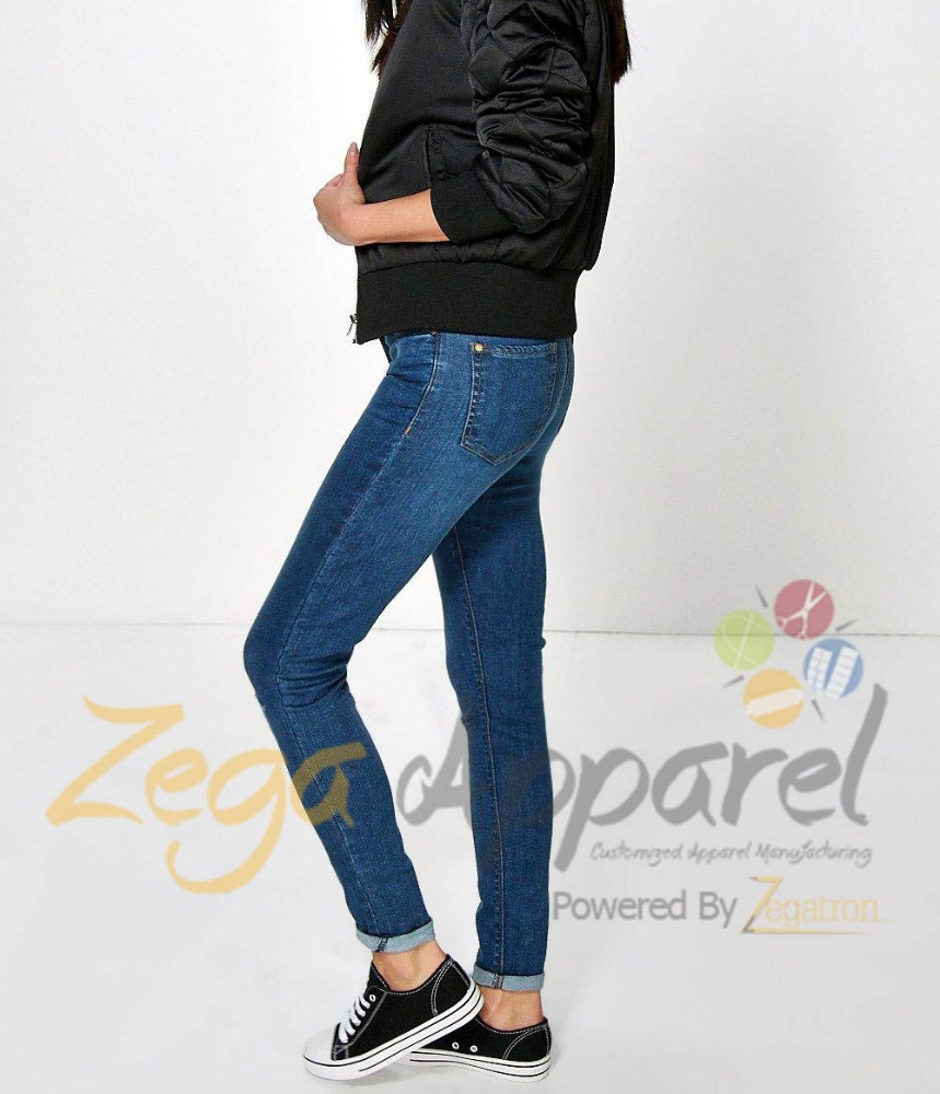 Zegaapparel Latest design customized pants jeans for women