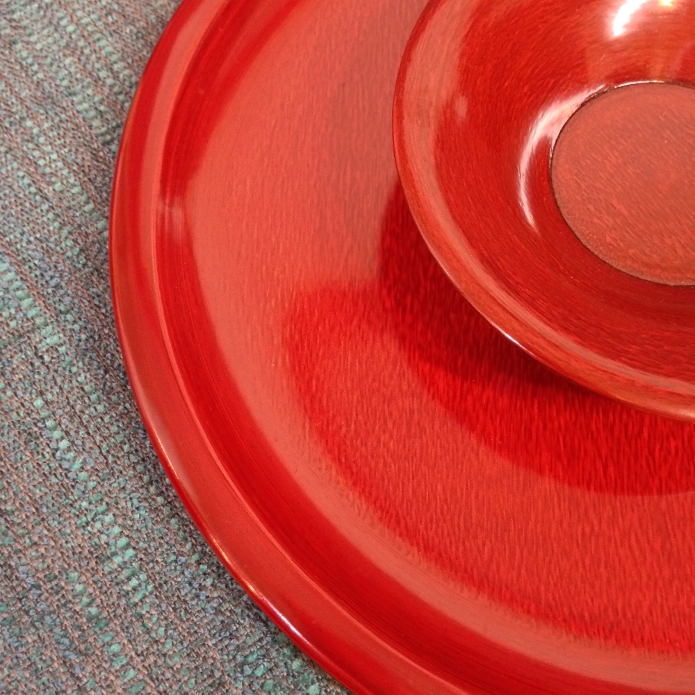 Elegant and Modern craft paper URUSHI Lacquer plate at reasonable prices , small lot order available