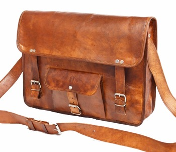 091f43c98 Handmade Real goat Leather Sling bag Indian handmade Men's cross body bag  wholesale 2016