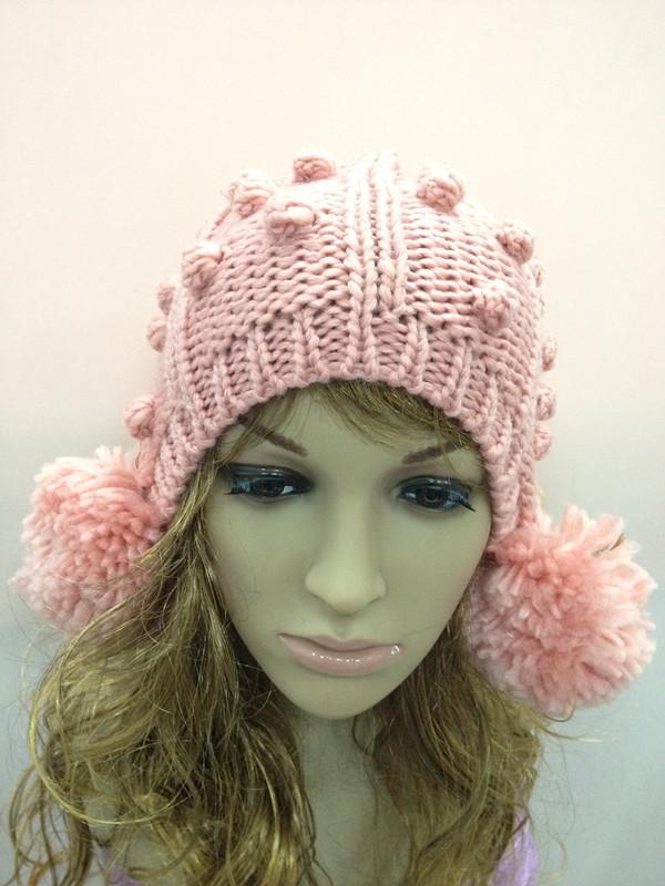 Moda para mujer caliente del invierno de la boina trenzado baggy ...