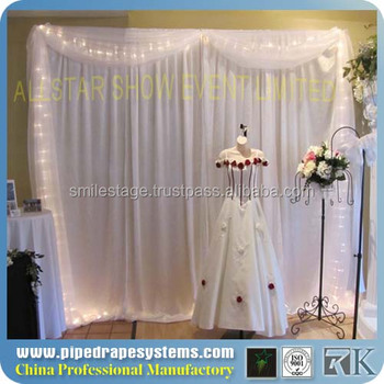 New Design Aluminum Backdrop Stand Inflatable Events Decoration Wall Curtains For Weddings