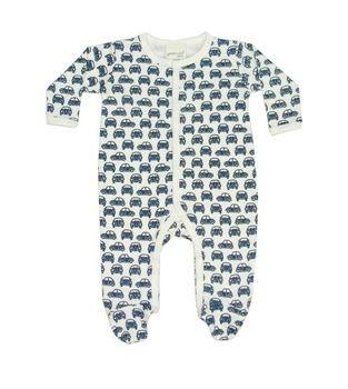 c0d9dd5b36fc Organic Newborn Baby Clothes Car Pattern Print Long Sleeves Jumpsuit ...