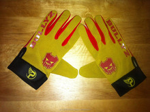 Desain <span class=keywords><strong>Sarung</strong></span> <span class=keywords><strong>Tangan</strong></span> Sepak Bola profesional Silicon sticky palm american football gloves