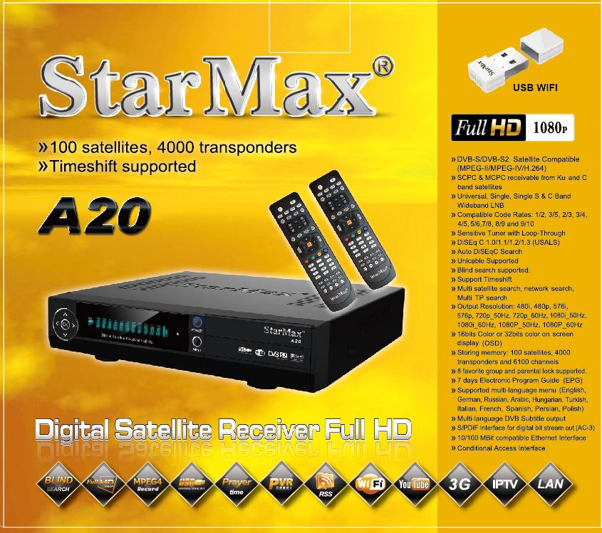 Digital Satellite Receiver model A20