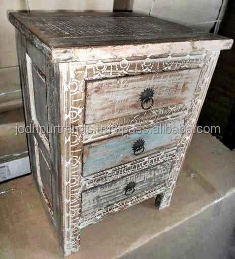 Mobili in legno di recupero made in india finitura bianco - Mobili legno recupero ...