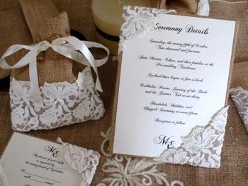 rustic wedding invitation suite natural burlap wedding invitation
